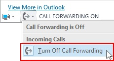Click on Turn Off Call Forwarding