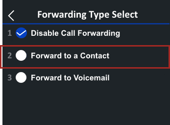 Tap Forward to a Contact