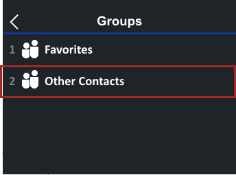 Tap Groups and Other Contacts