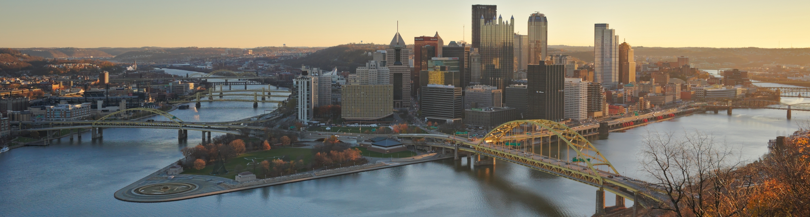 image - view of Downtown Pittsburgh from Duquesne Incline in the morning